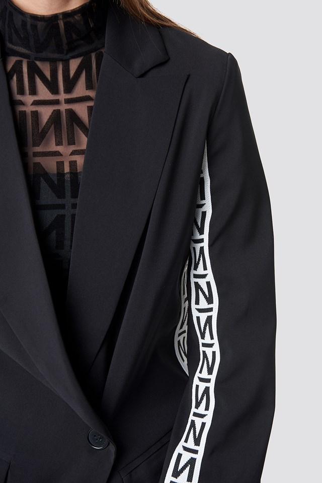 N Branded Blazer Black/White