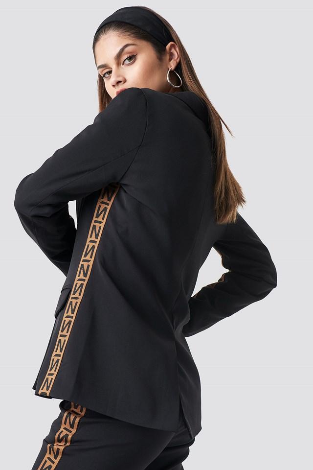 N Branded Blazer Black/Burned Brown