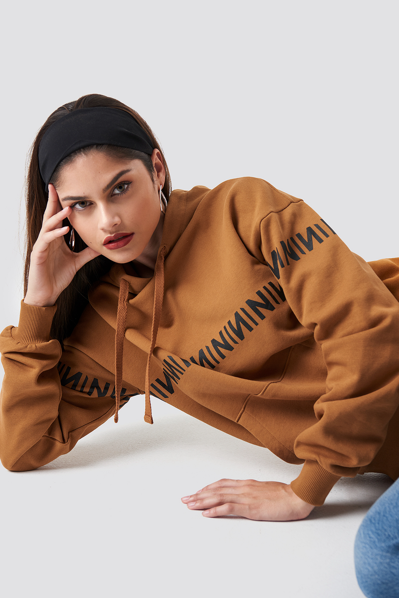 na-kd trend -  N Branded Hoodie - Orange