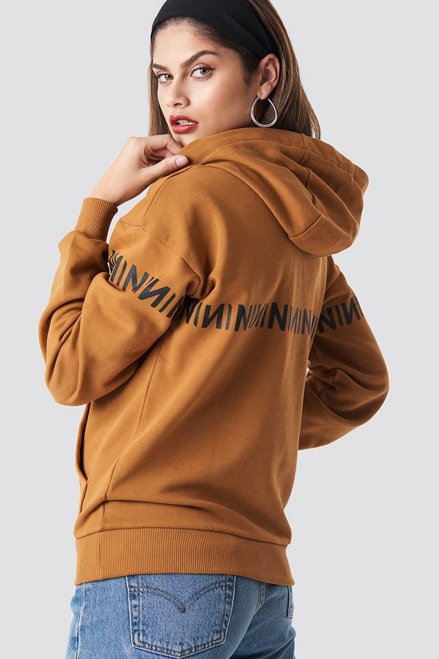 N Branded Hoodie Burned Brown