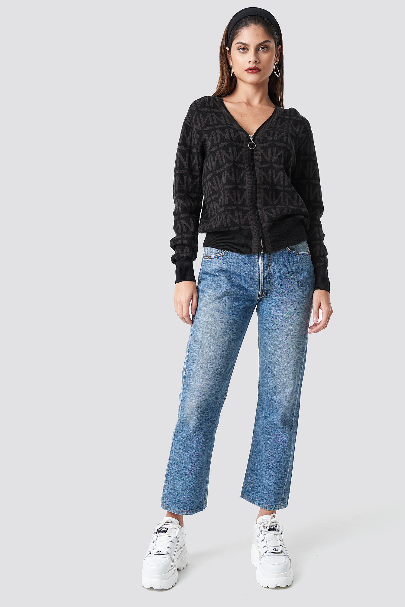 N Branded Knitted Cardigan NA-KD.COM