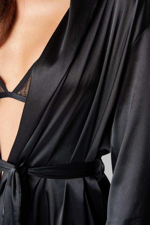 Belted Satin Robe NA-KD.COM