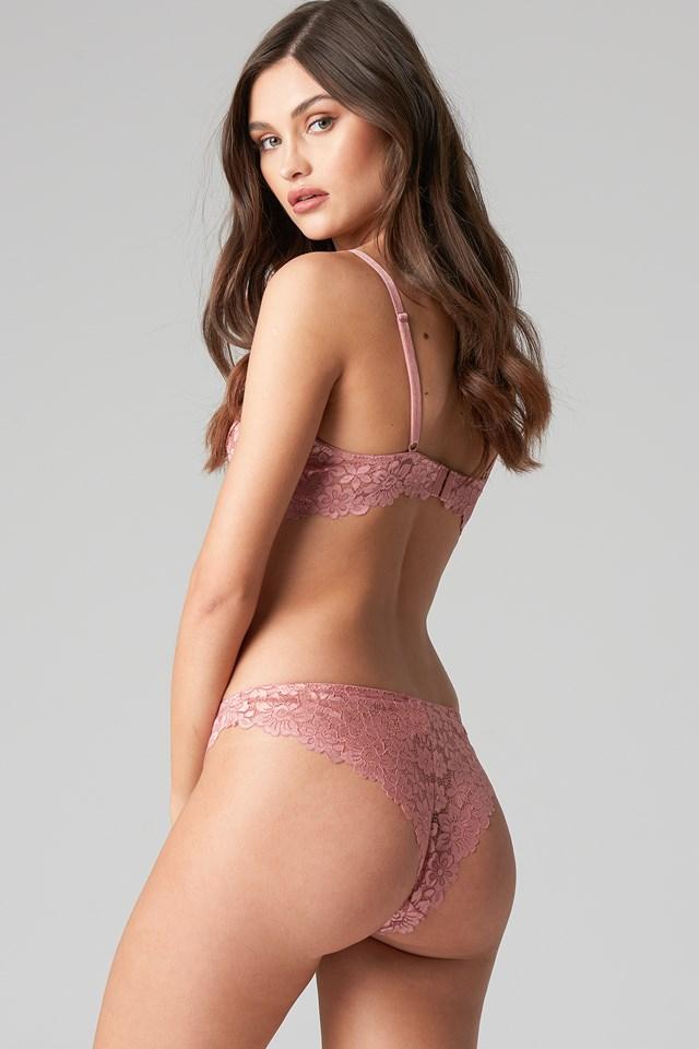 Raw Edge Lace Panty NA-KD.COM
