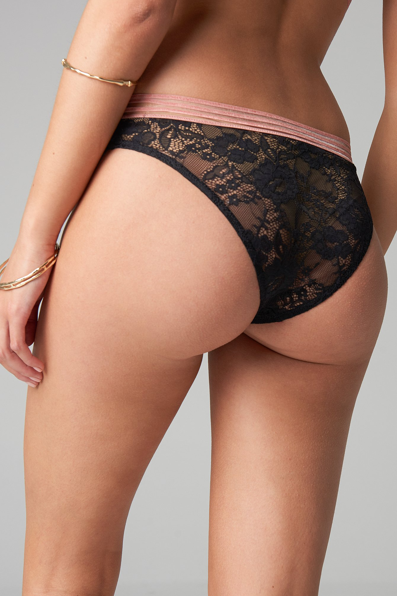 Striped Elastic Lace Panty NA-KD.COM