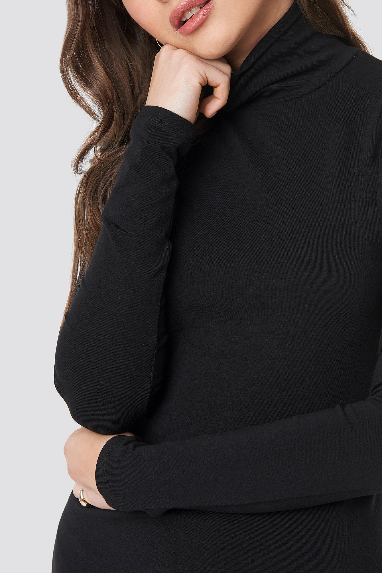 Polo Neck Dress NA-KD.COM
