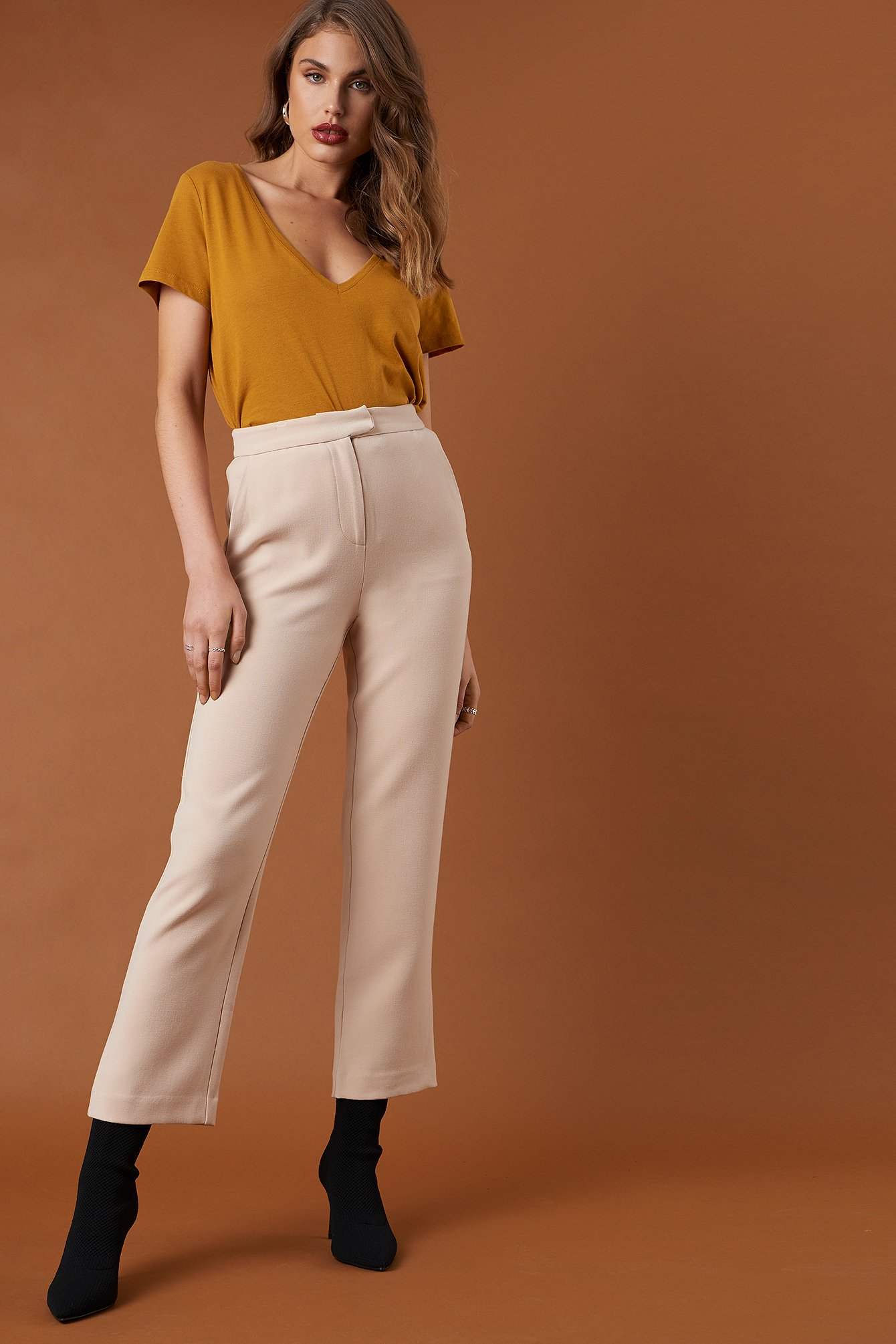 na-kd classic -  Relaxed Suit Pants - Beige