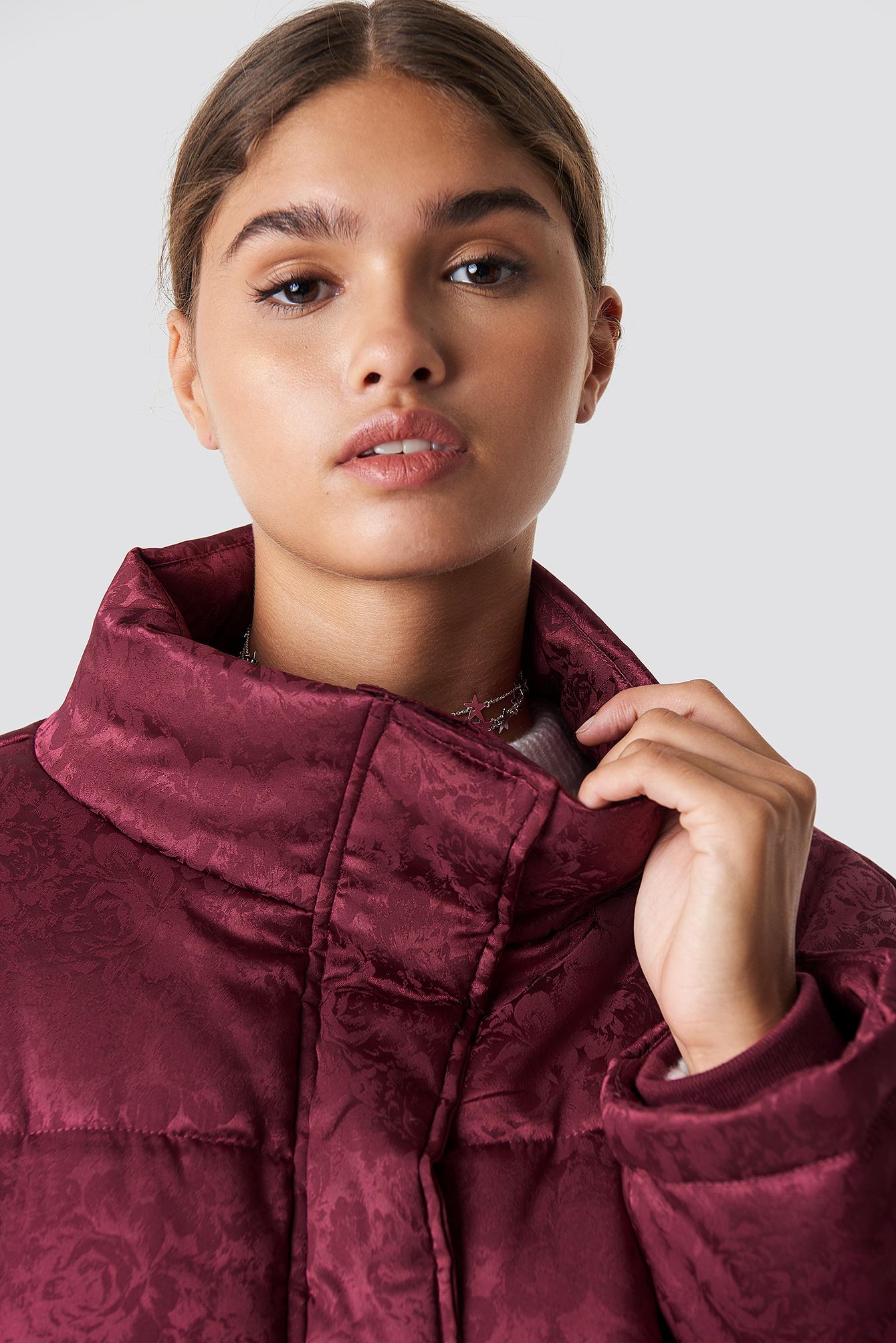 Shiny Jacquard Puff Jacket NA-KD.COM