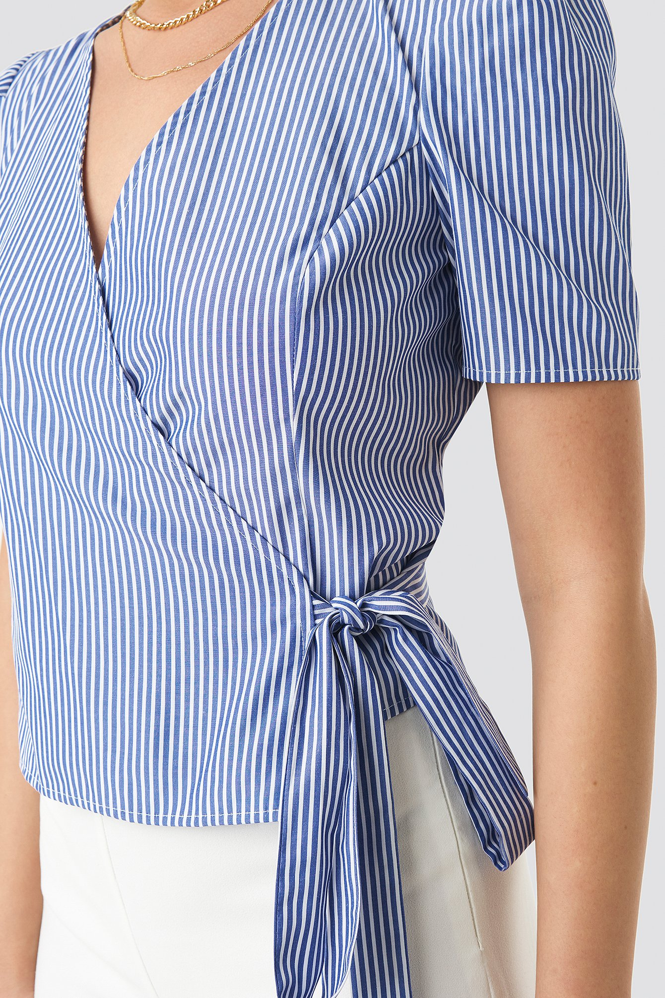 Striped Wrap Over Side Top NA-KD.COM