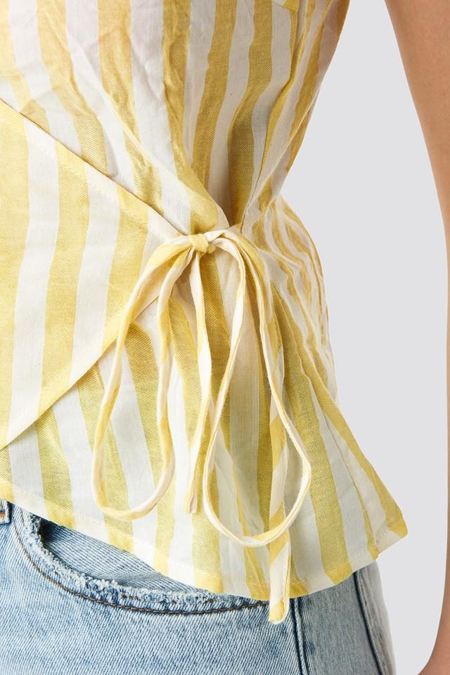 Striped Wrap Over Side Singlet NA-KD.COM