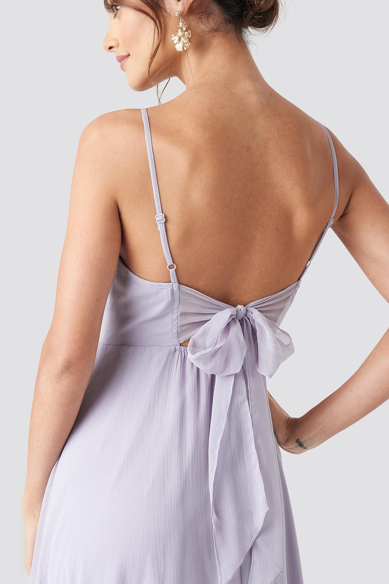 Tie Back Detail Maxi Dress NA-KD.COM