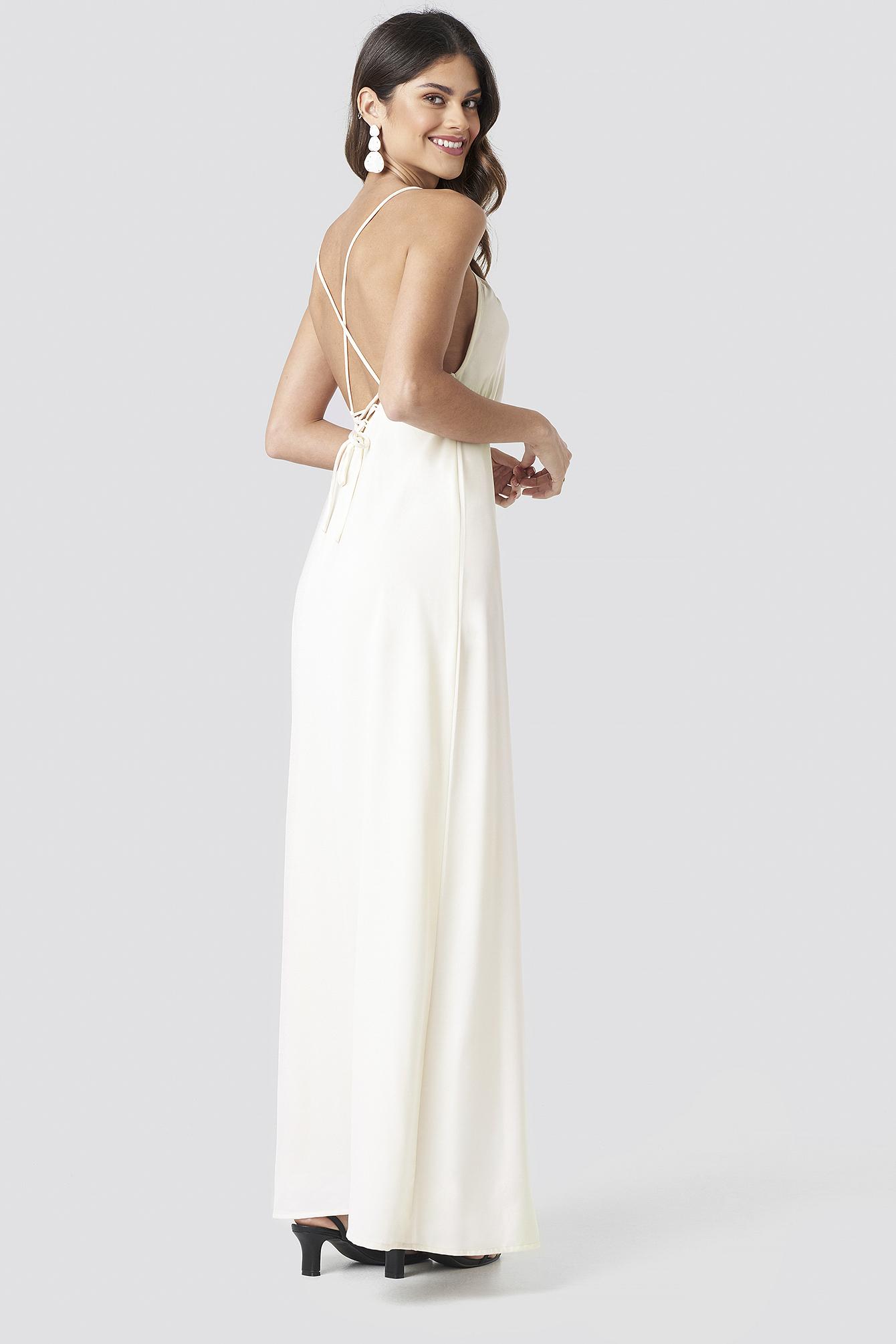 Tie Back Maxi Dress NA-KD.COM