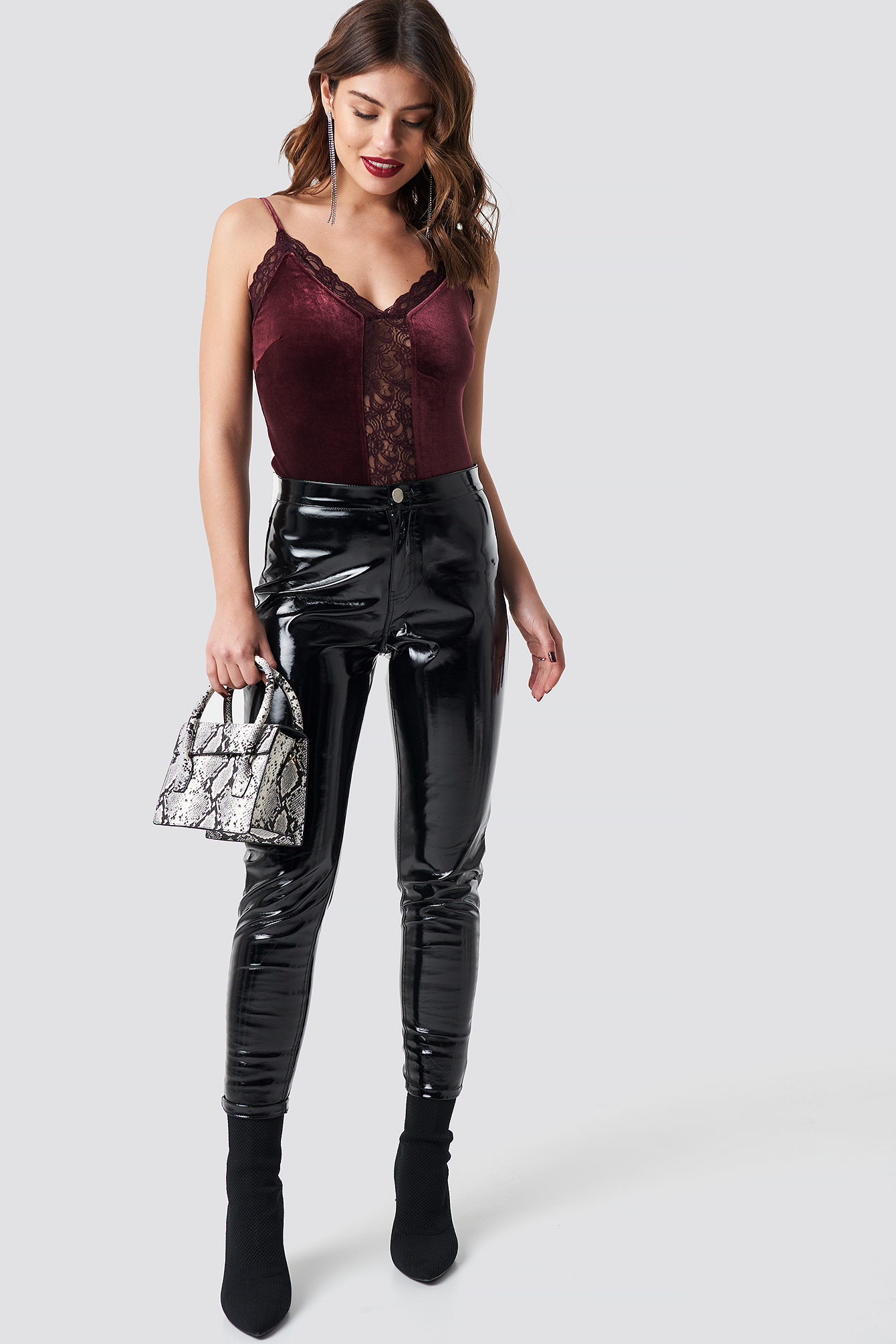 Velvet Lace Singlet NA-KD.COM