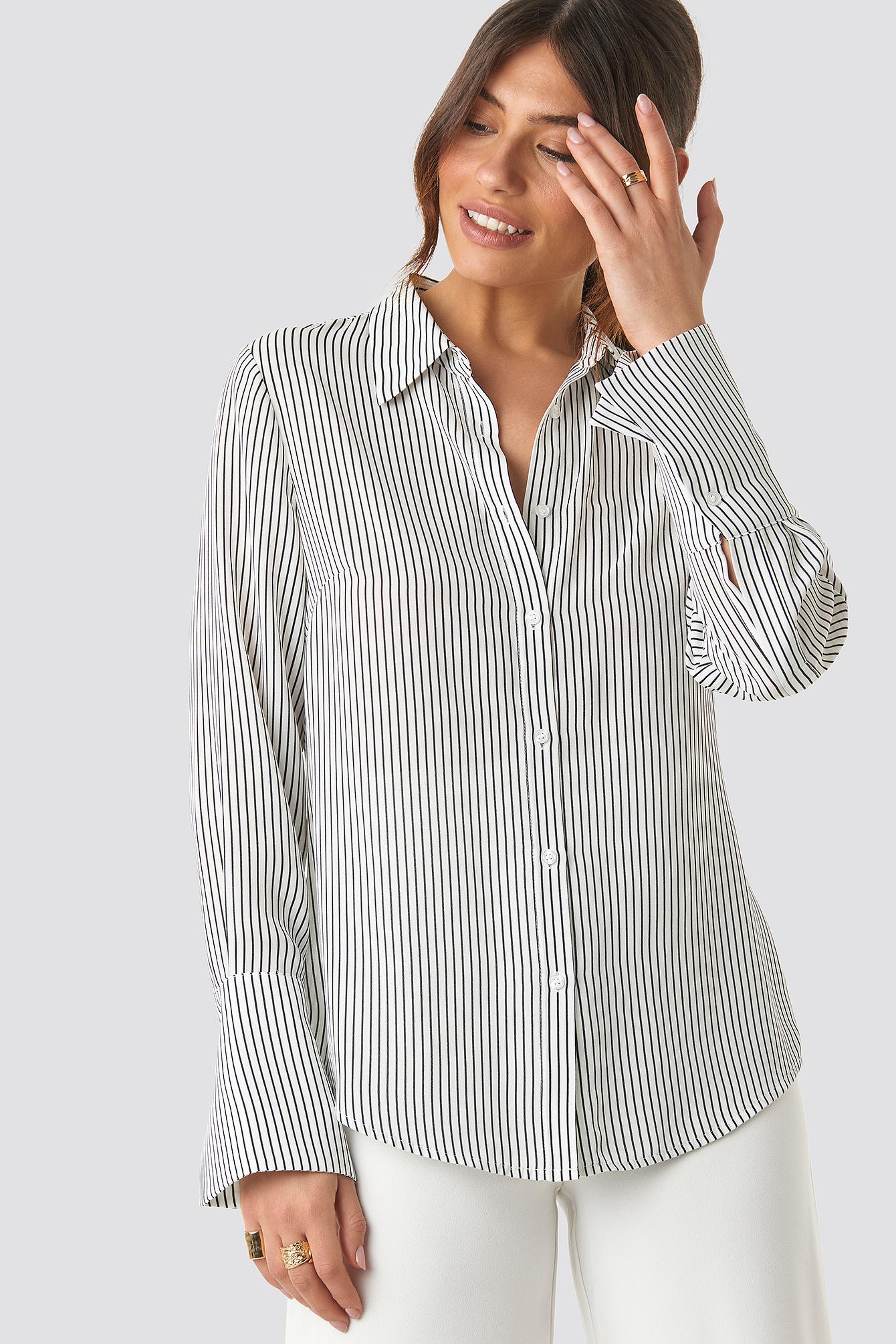 Wide Cuff Striped Shirt NA-KD.COM