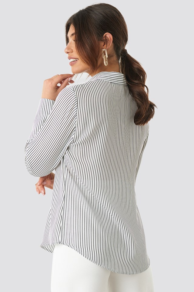 Wide Cuff Striped Shirt NA-KD.COM