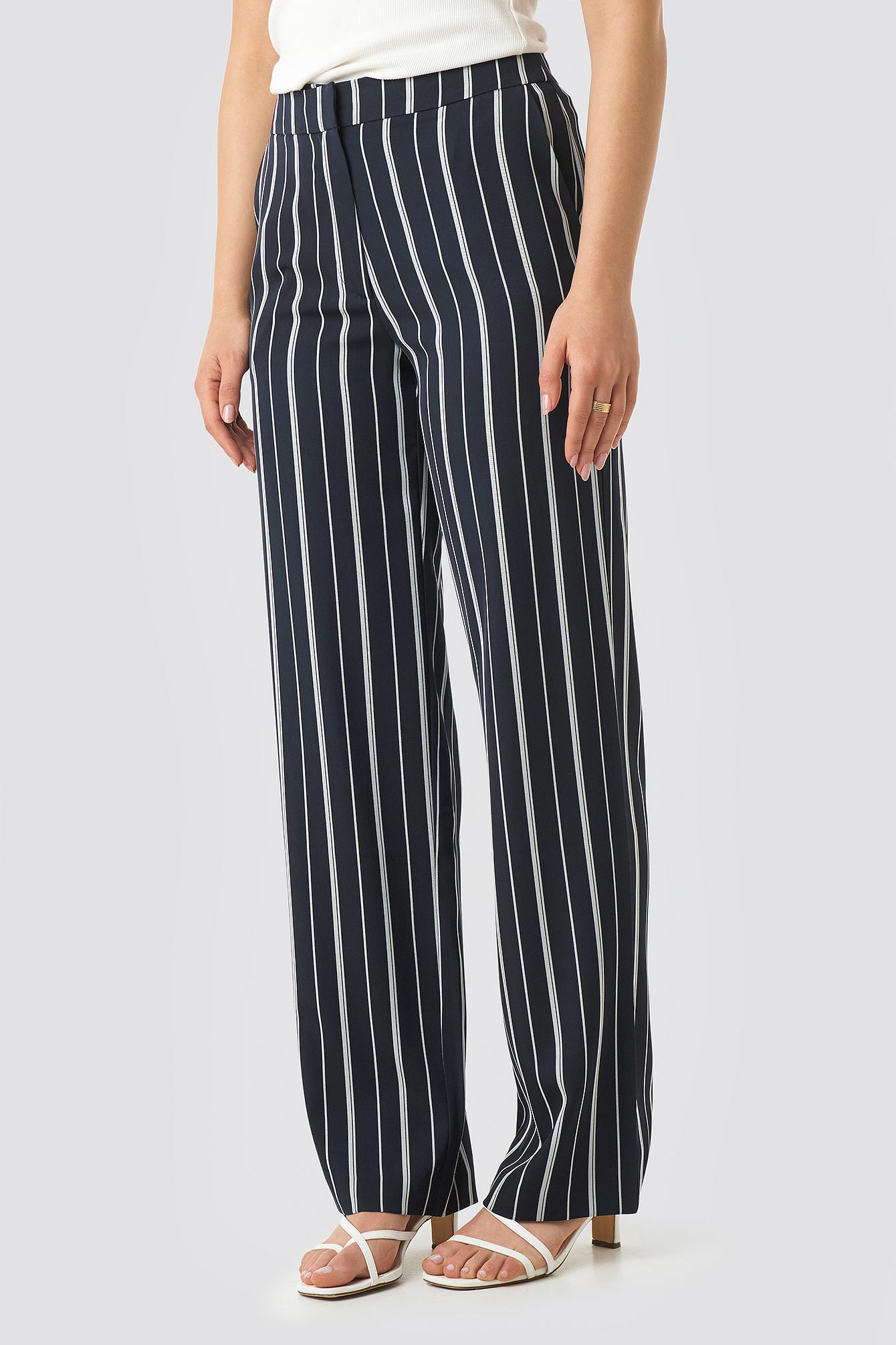 Wide Striped Suit Pants NA-KD.COM