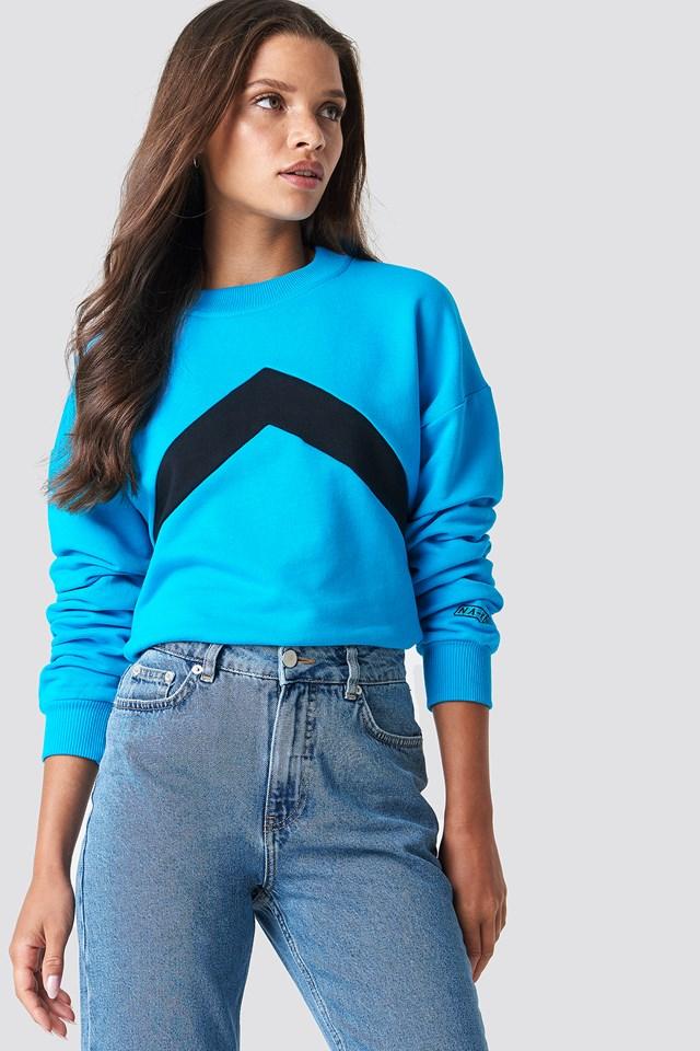 Blocked Chest Sweatshirt NA-KD