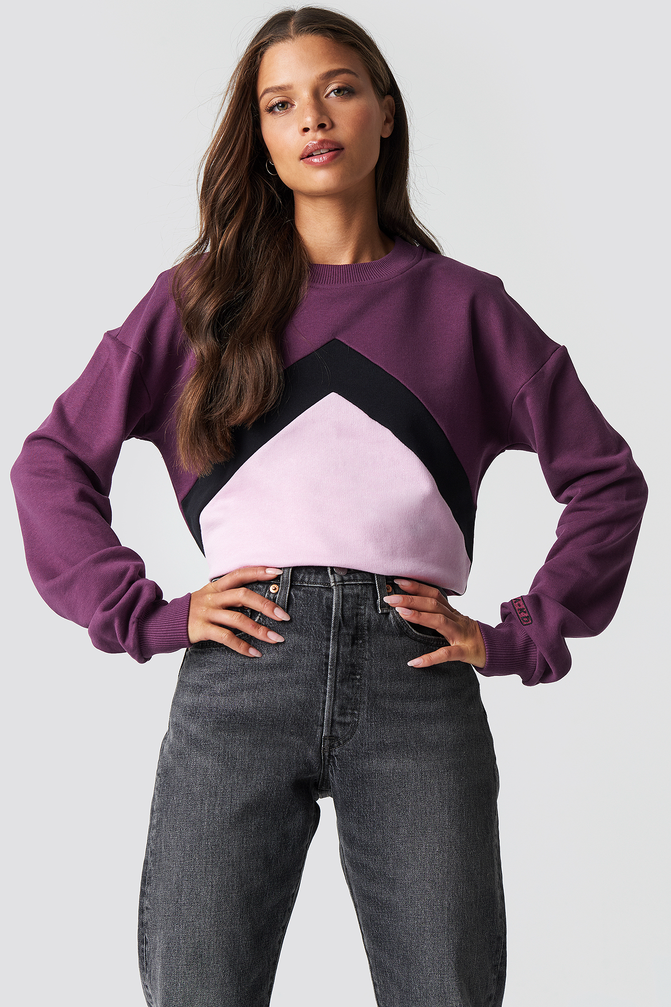 Blocked Chest Sweatshirt NA-KD.COM