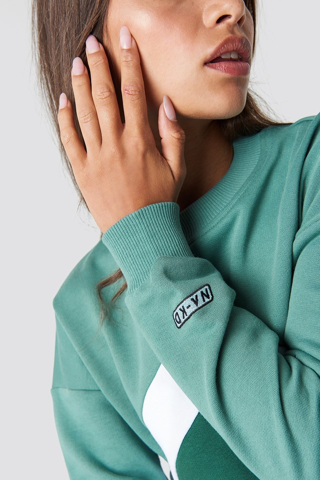 Blocked Chest Sweatshirt NA-KD.COM