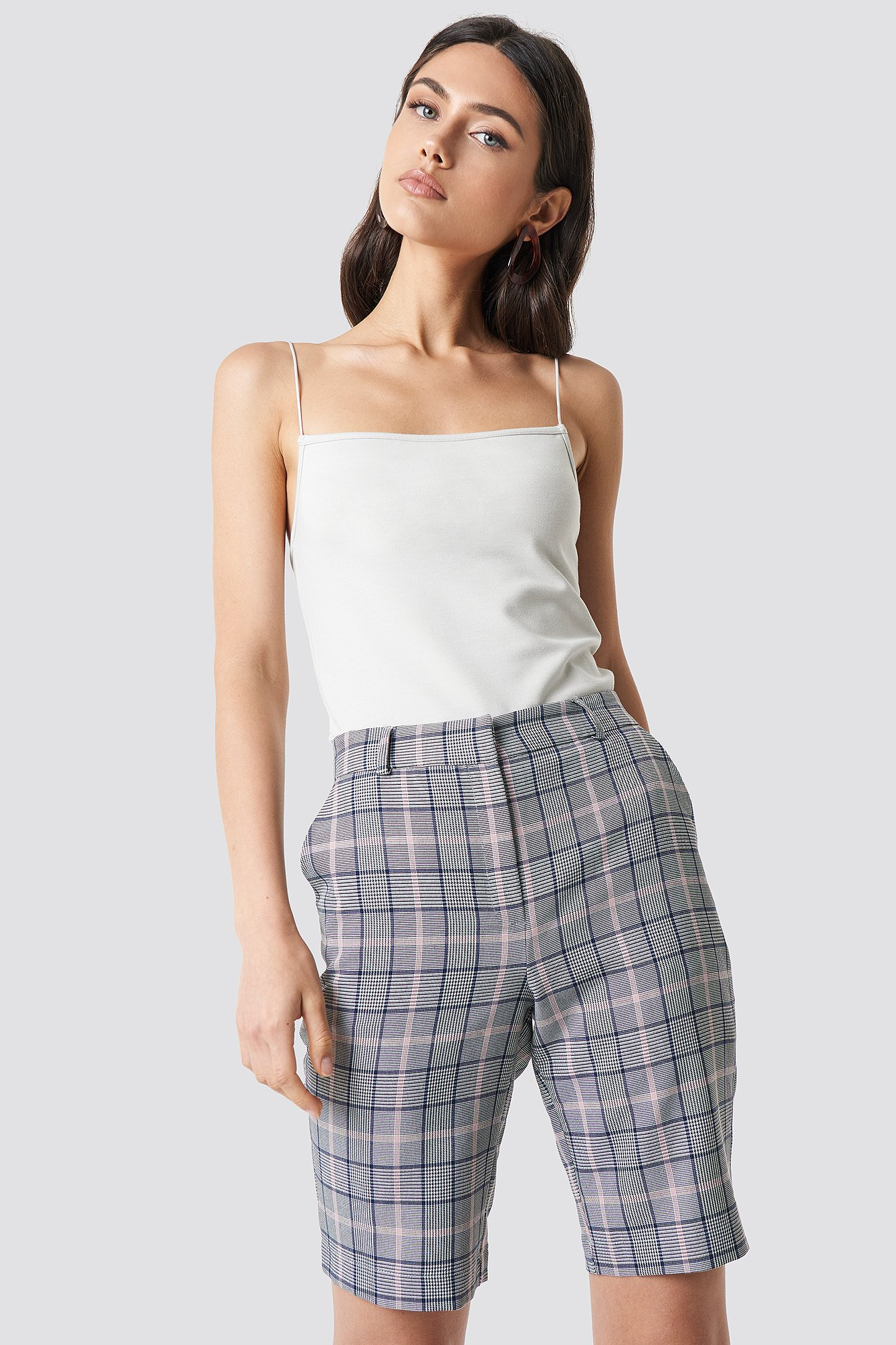 Checkered Bermuda Shorts NA-KD.COM