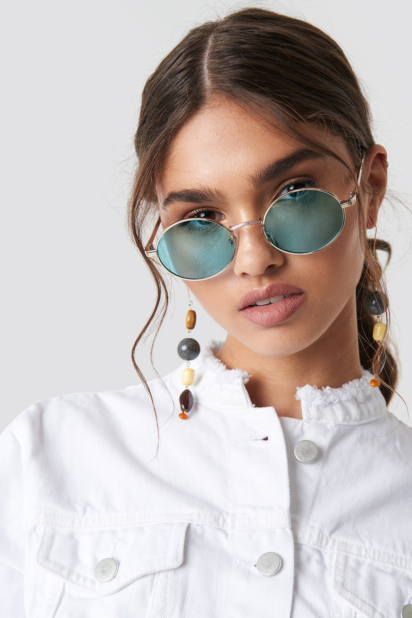 Colored Oval Metal Sunglasses NA-KD.COM