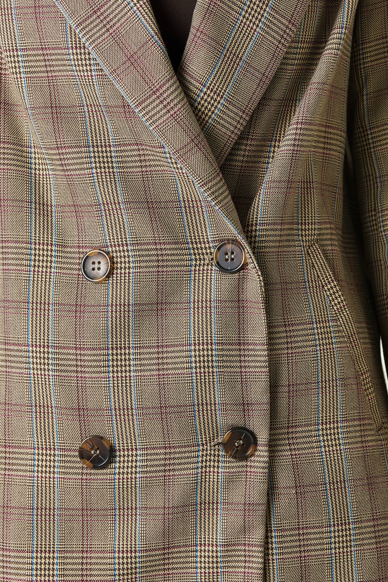 Double Breasted Plaid Jacket NA-KD.COM