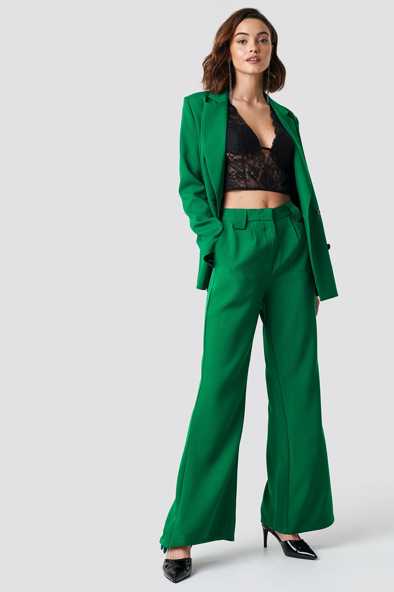 High Waisted Flared Suit Pants NA-KD.COM