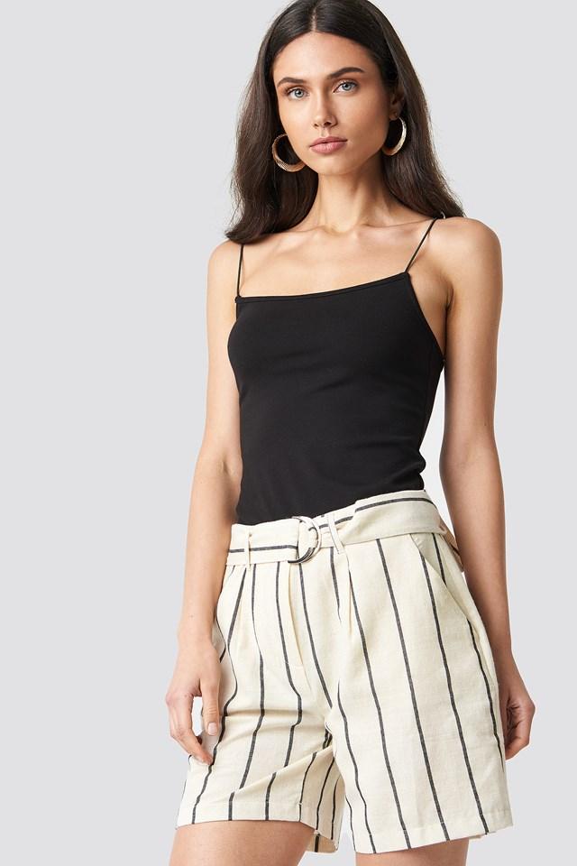 Linen-blend Shorts NA-KD Classic
