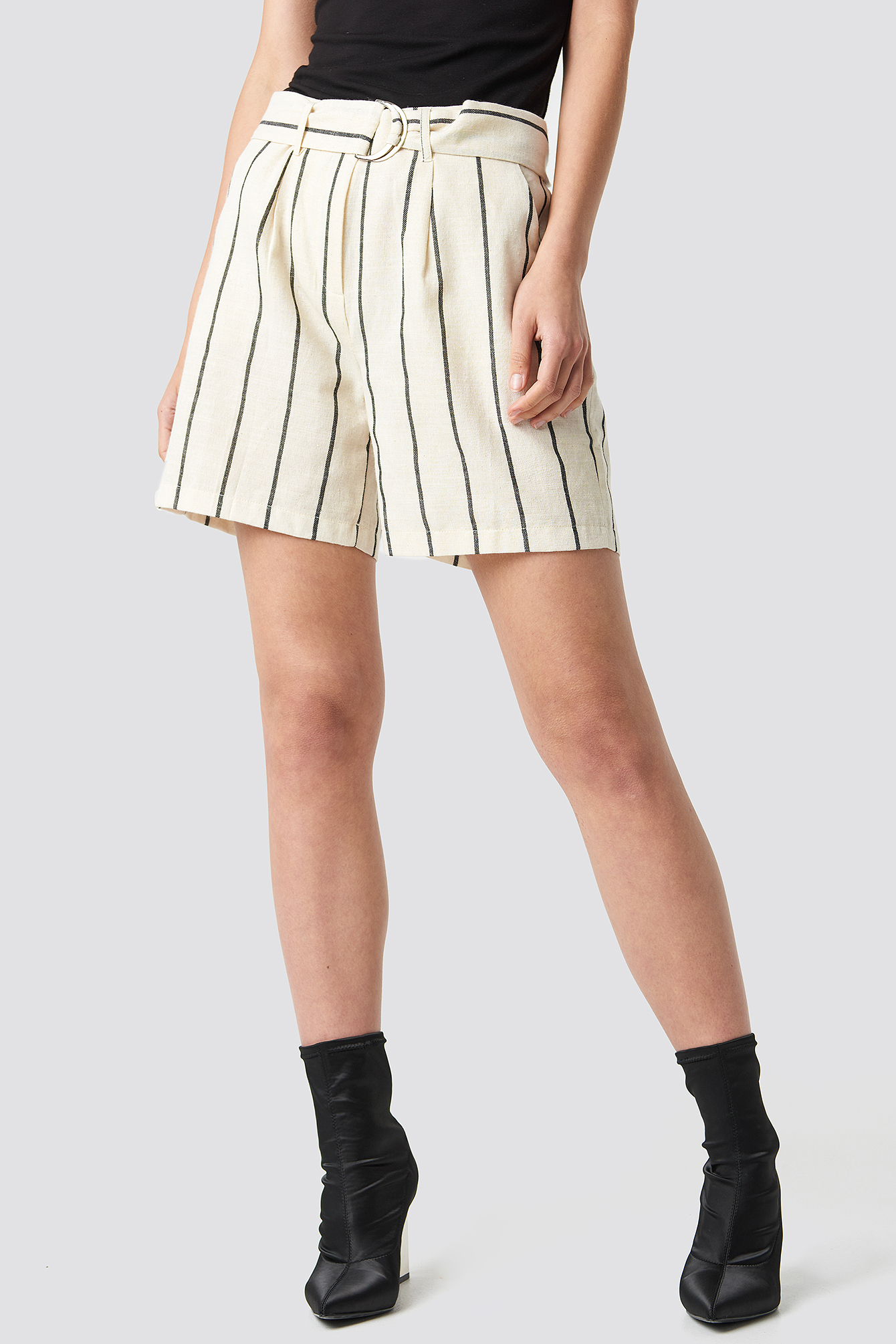 Linen-blend Shorts NA-KD.COM