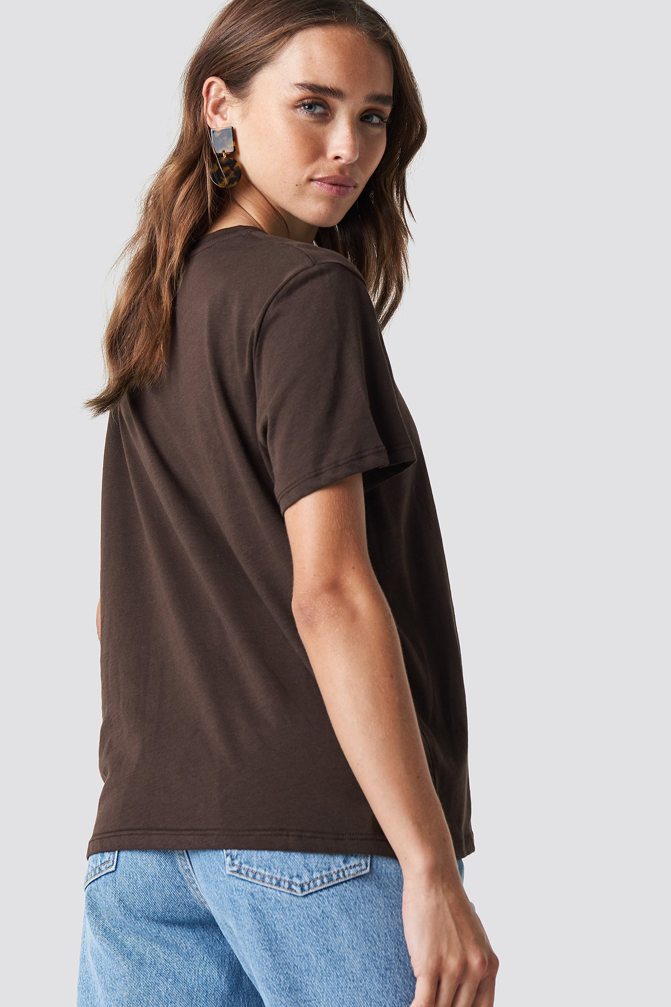 Dark Brown Loudly Oversized Tee