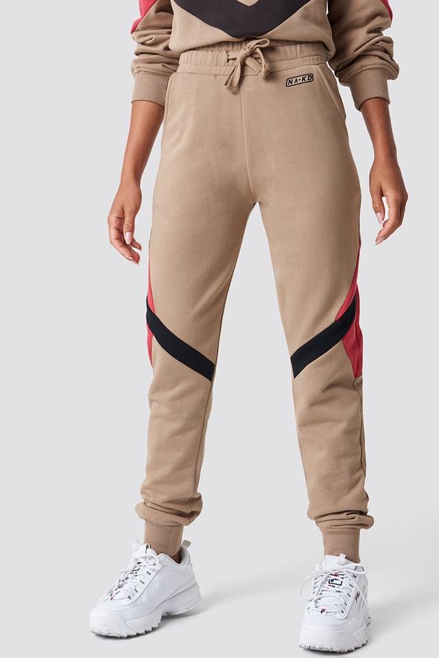 Multi Blocked Sweatpants Mauve