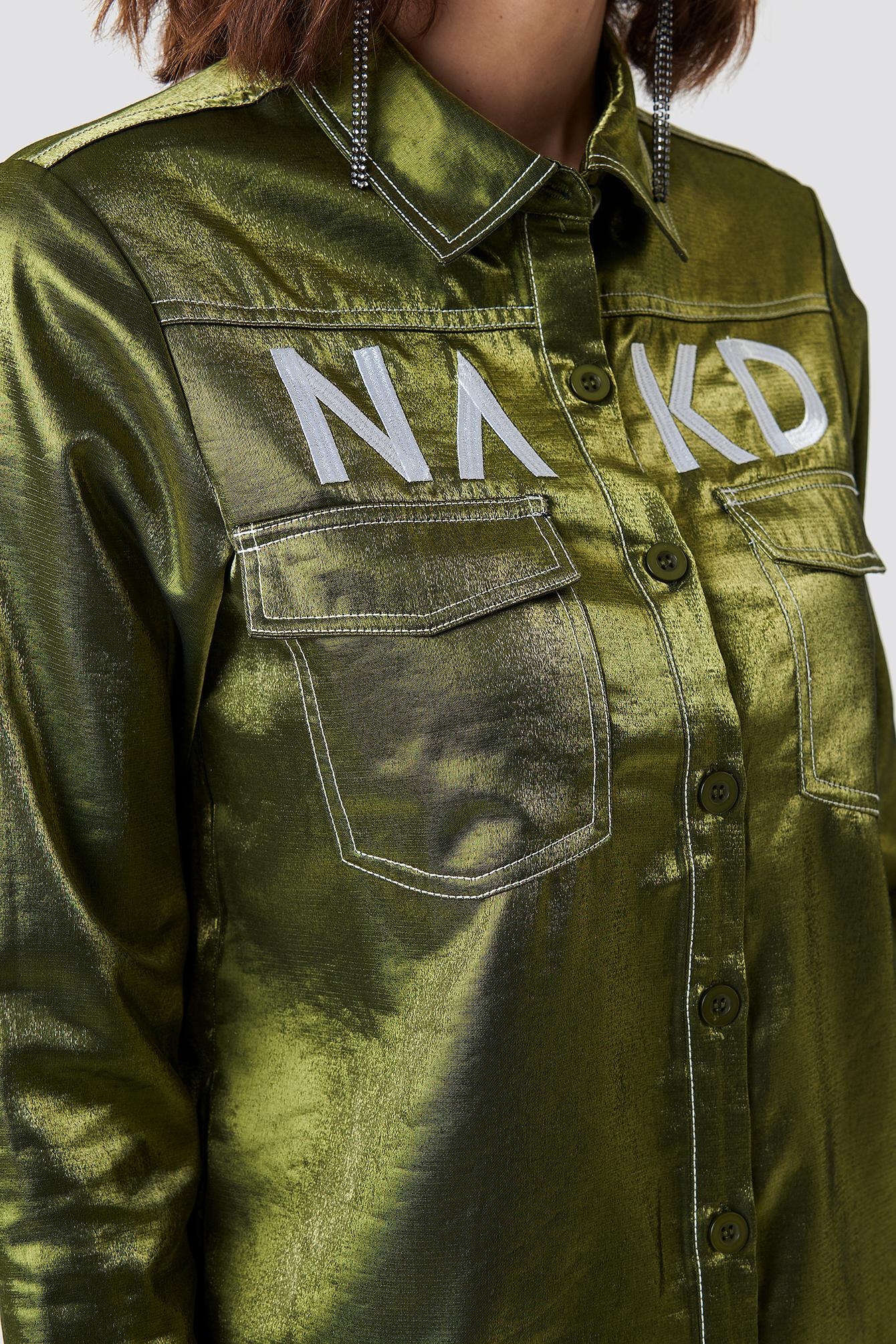NA-KD Contrast Shirt NA-KD.COM