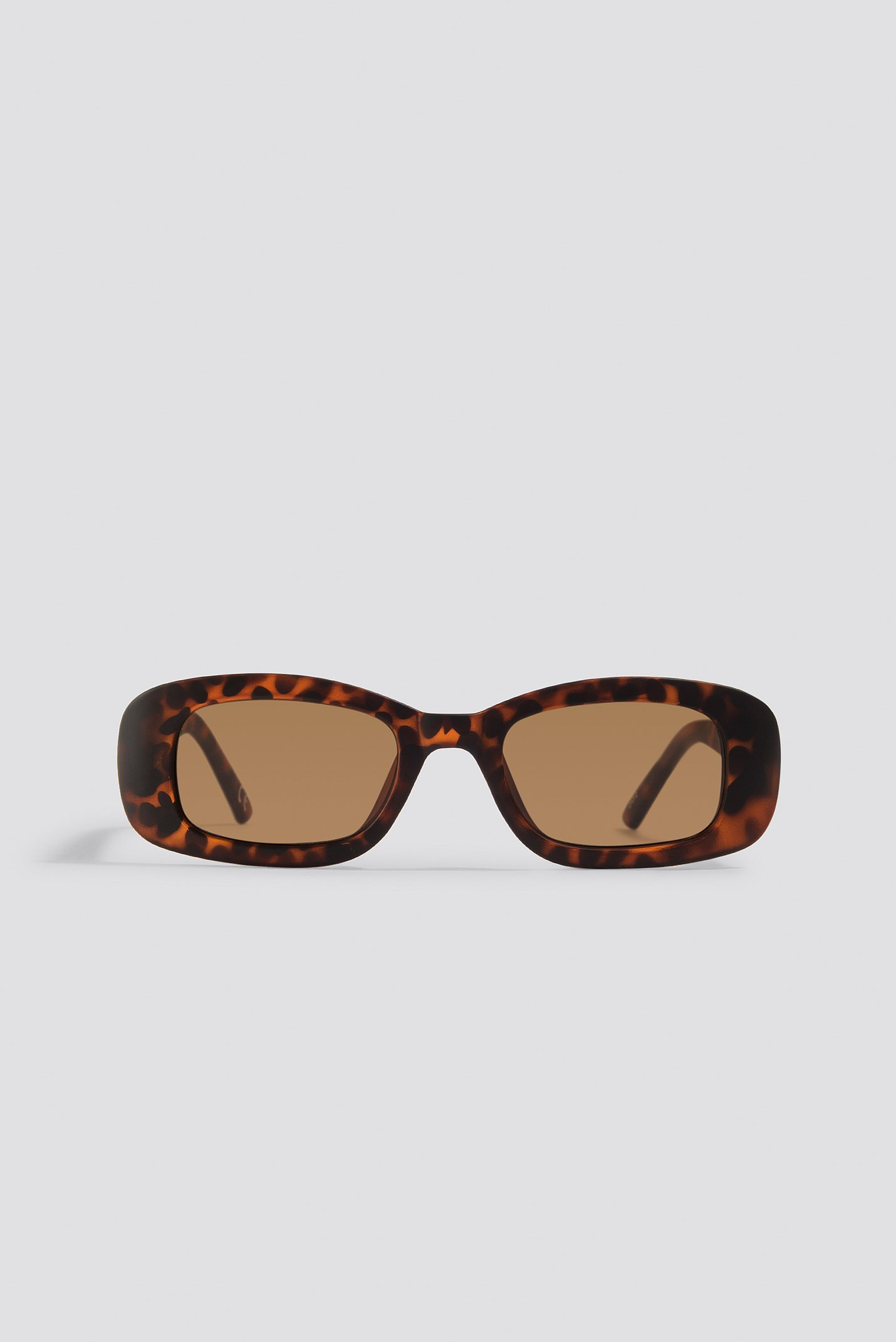 na-kd accessories -  Retro Rectangular Sunglasses - Brown