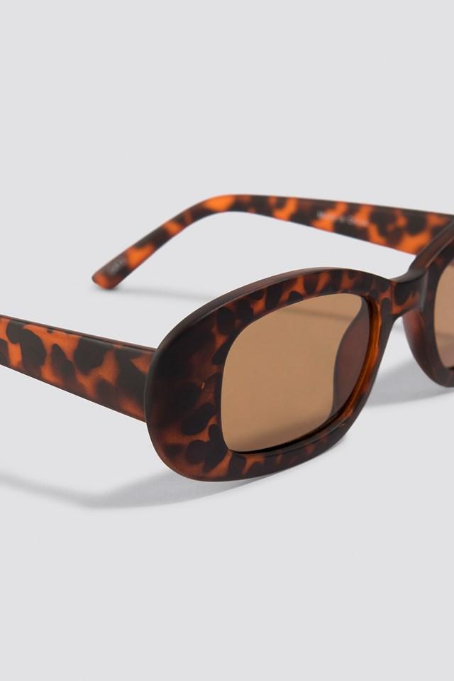 Retro Rectangular Sunglasses Tortoise