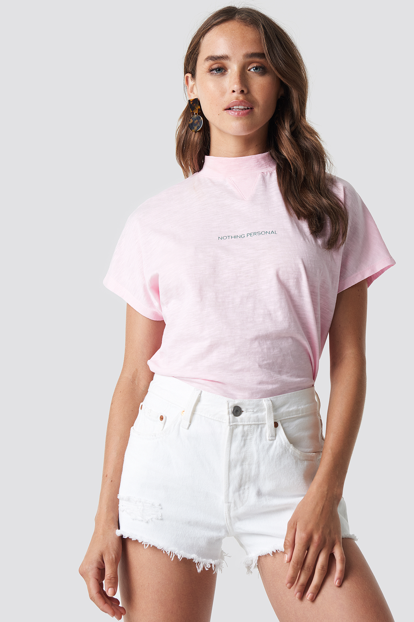 Nothing Personal Cap Sleeve Top NA-KD.COM