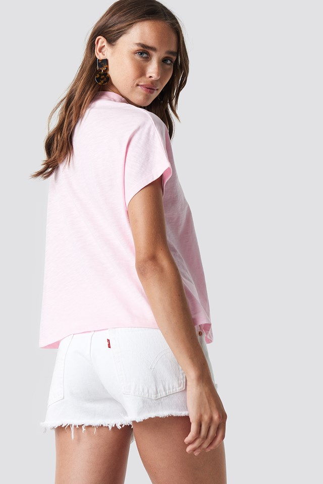 Nothing Personal Cap Sleeve Top Light Pink