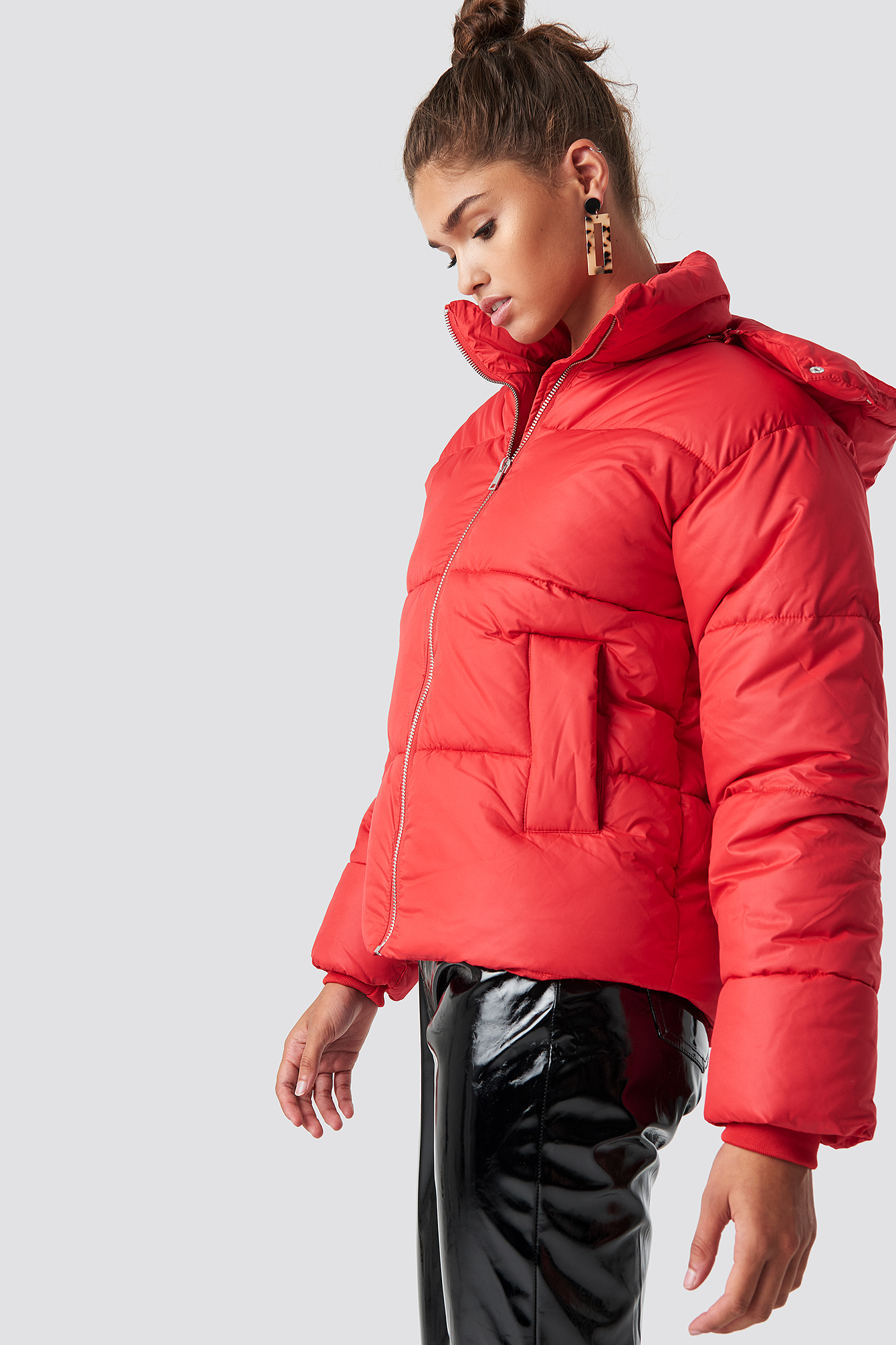 na-kd -  Puffer Jacket - Red