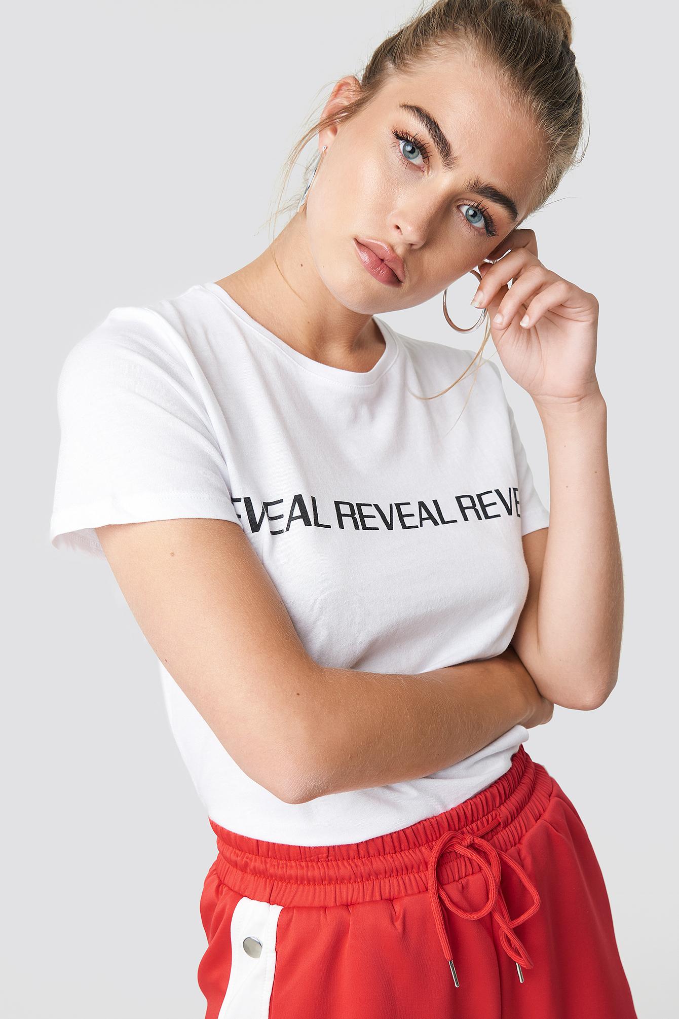 na-kd -  Reveal Basic Tee - White