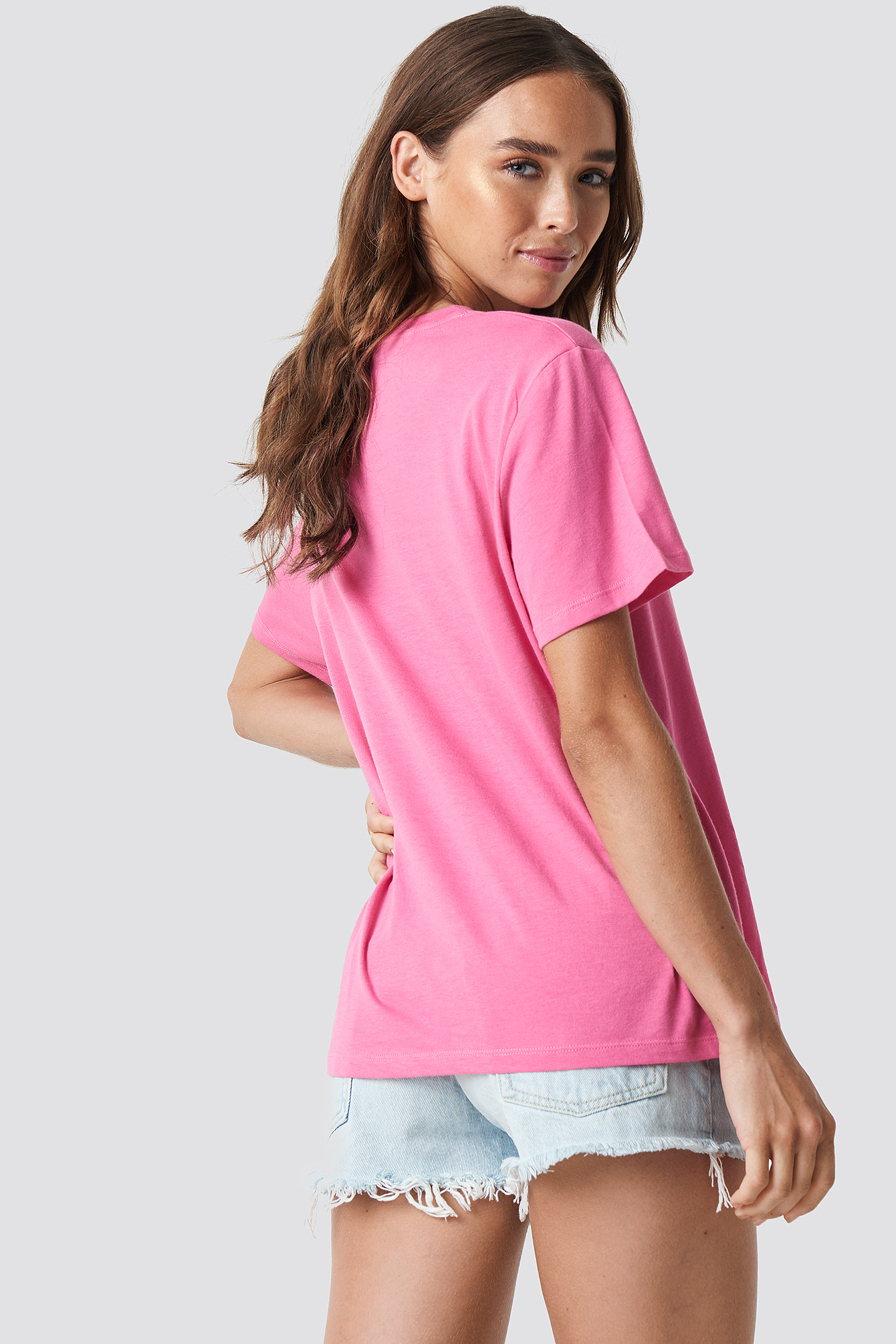 Pink T-shirt oversize Security