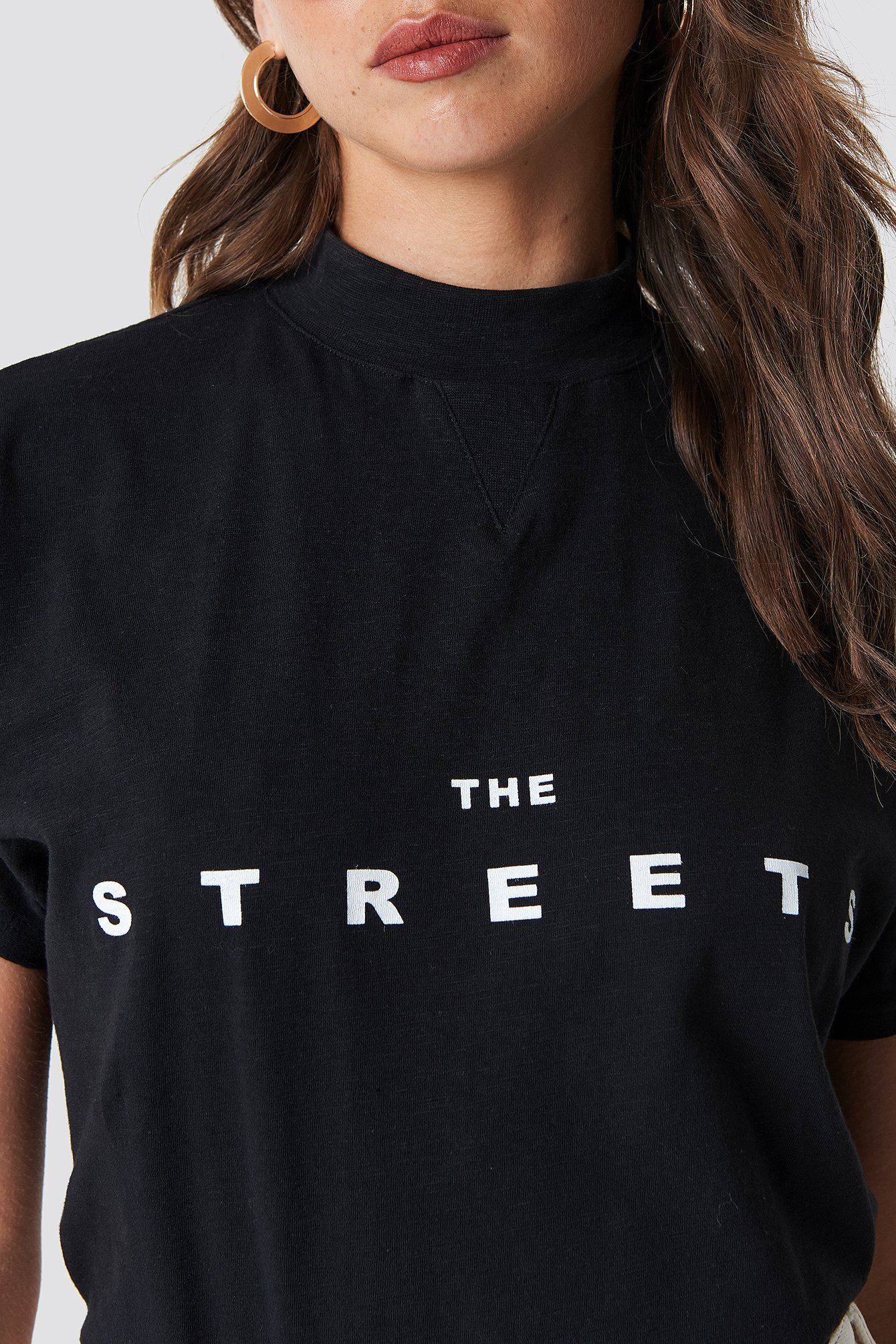 Black Streets Cap Sleeve Top