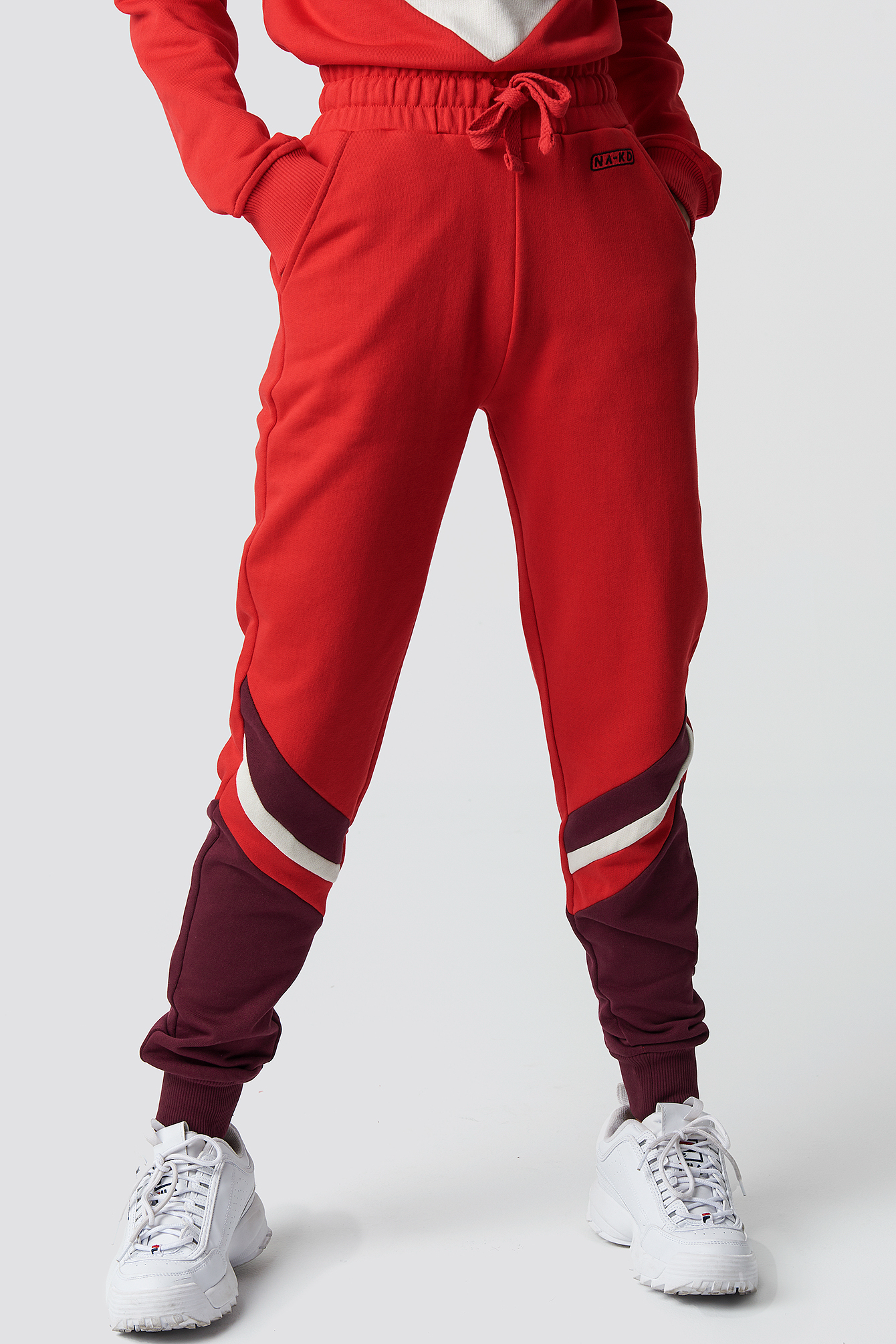 Stripe Blocked Sweatpants NA-KD.COM