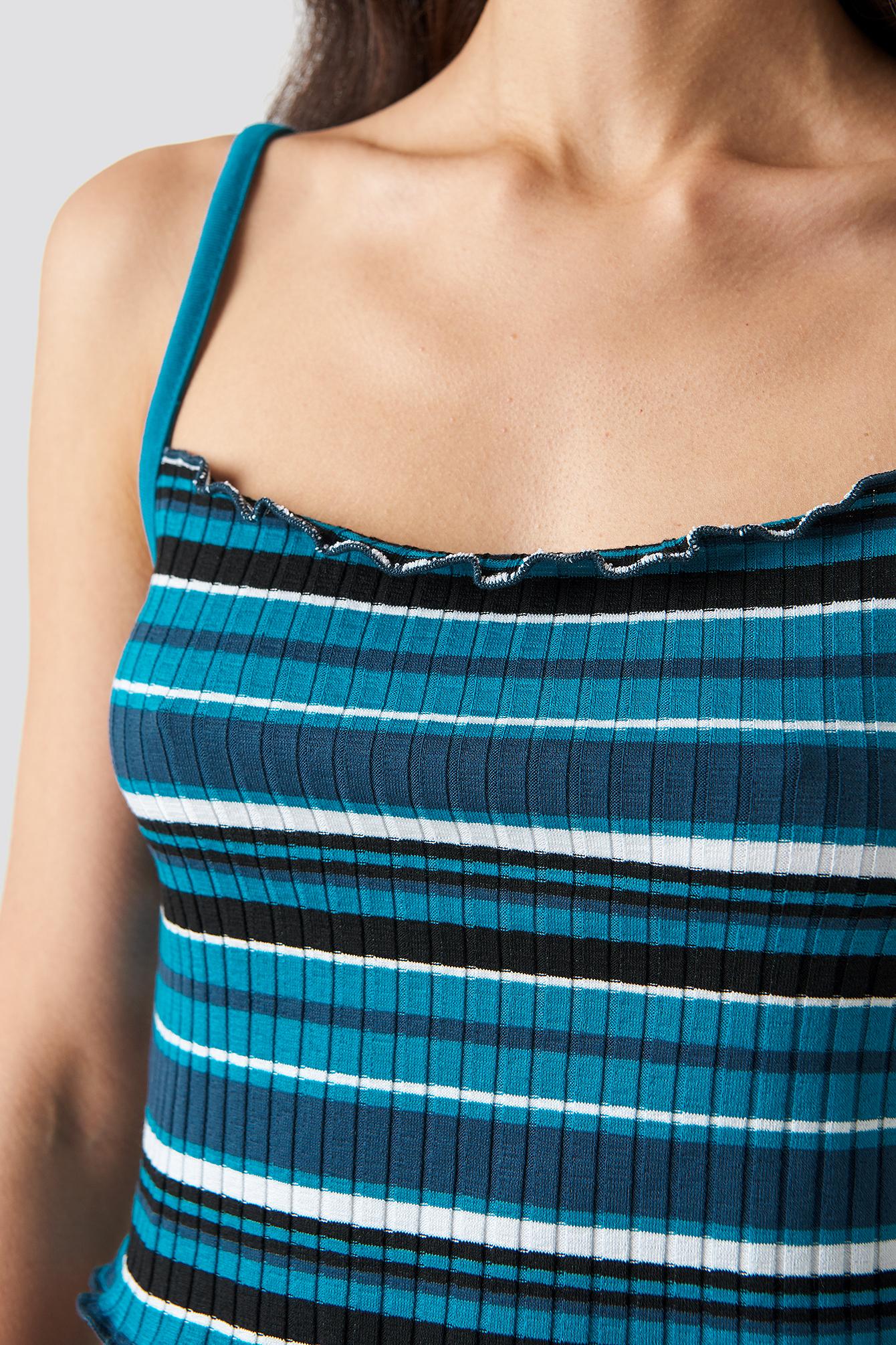 Striped Babylock Singlet NA-KD.COM