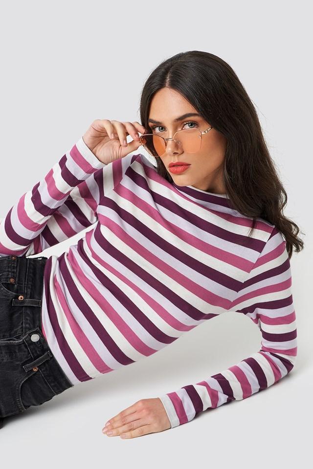Striped LS Top Purple