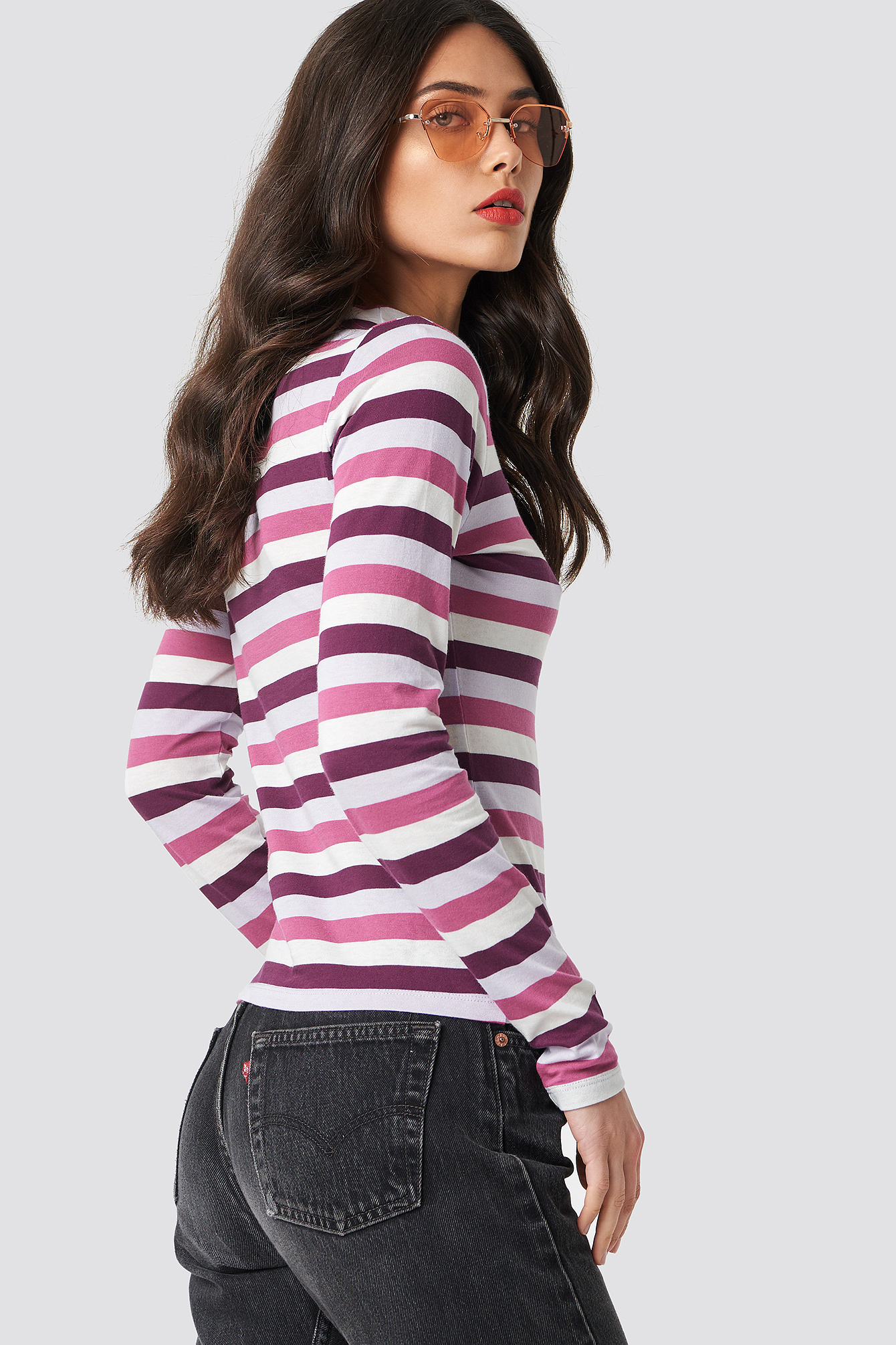 Striped LS Top NA-KD.COM