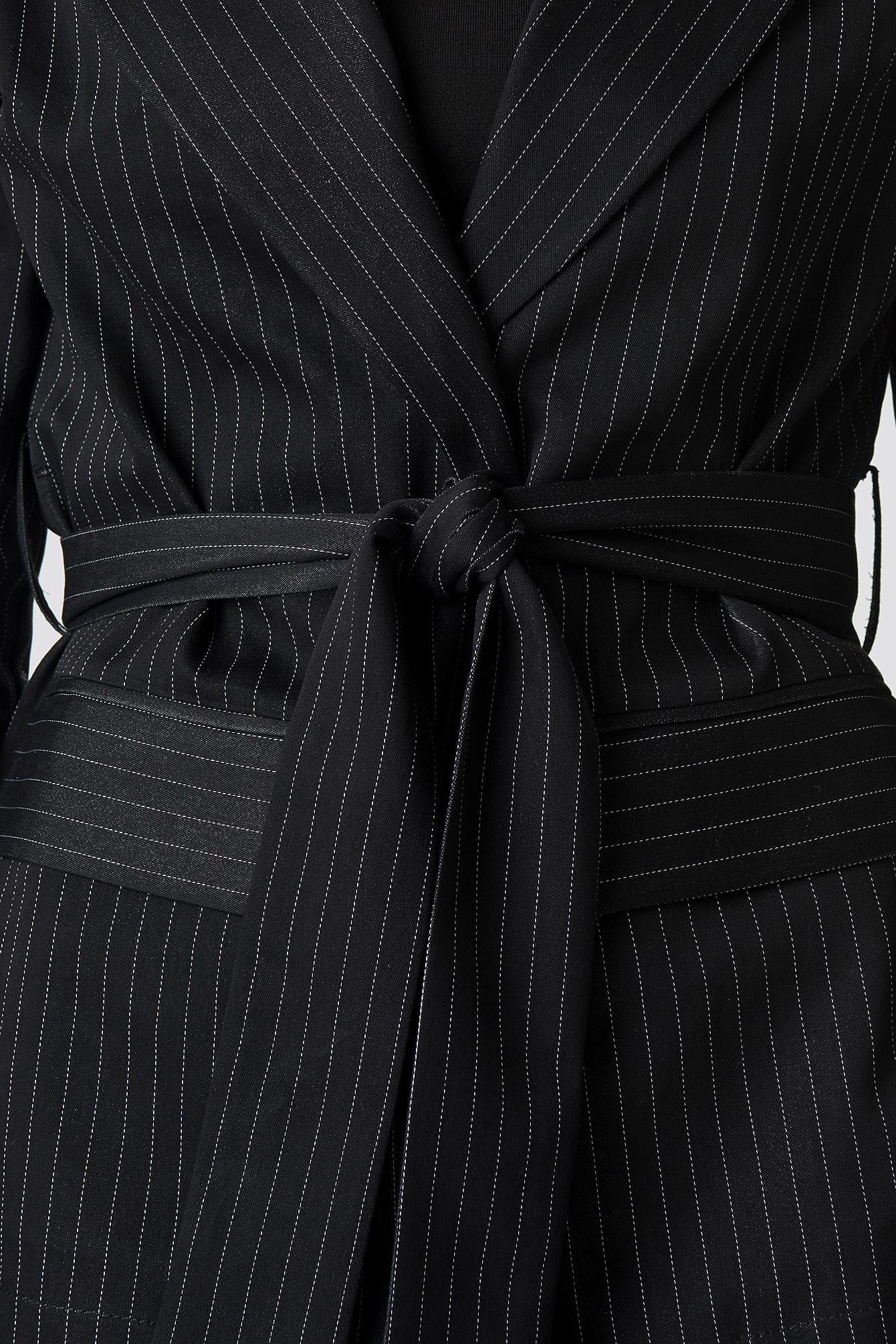 Tie Waist Striped Blazer NA-KD.COM