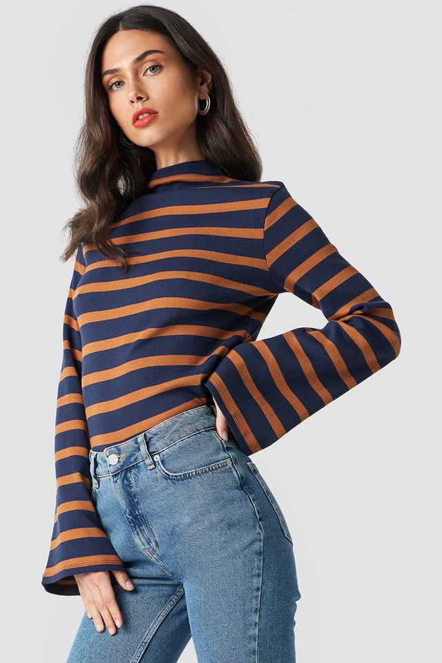 Turtle Neck Striped Top NA-KD