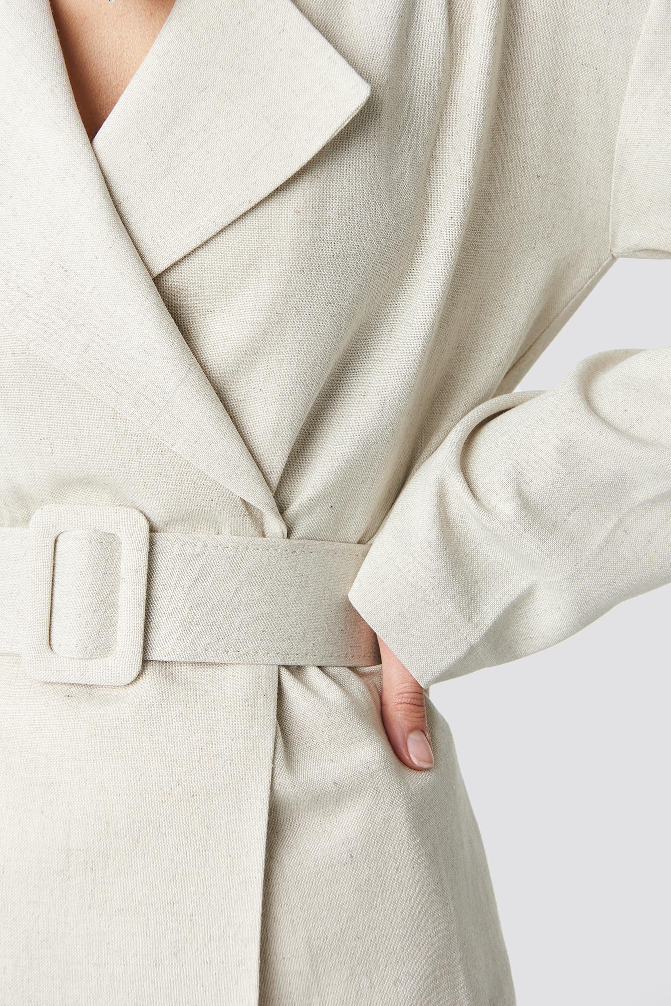 Wide Belted Oversized Blazer NA-KD.COM