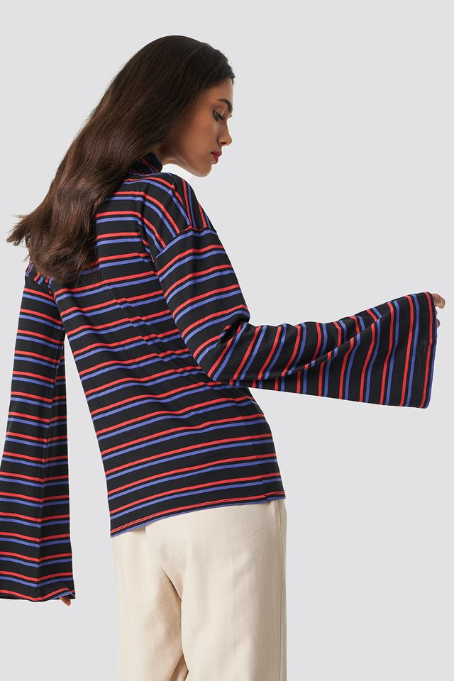 Wide Sleeve Polo Top NA-KD.COM