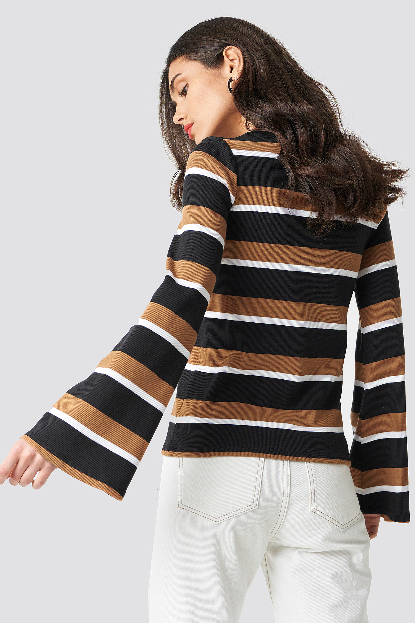 Wide Sleeve Striped Top NA-KD.COM