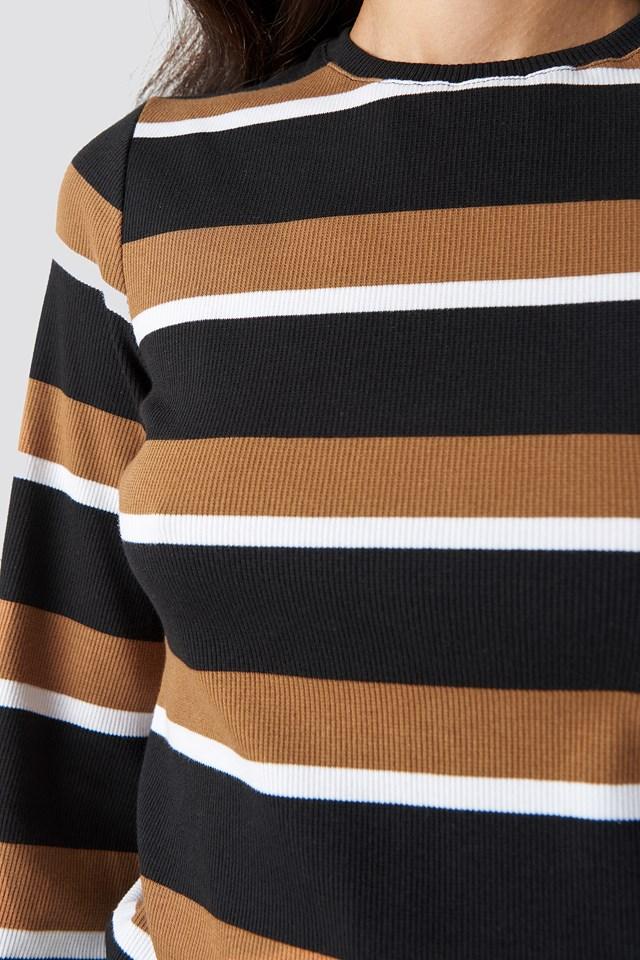 Wide Sleeve Striped Top NA-KD.COM