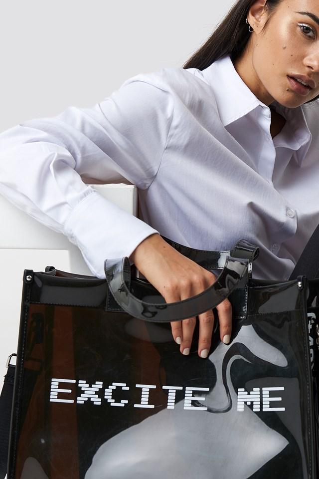 Excite Me Shopping Bag Black